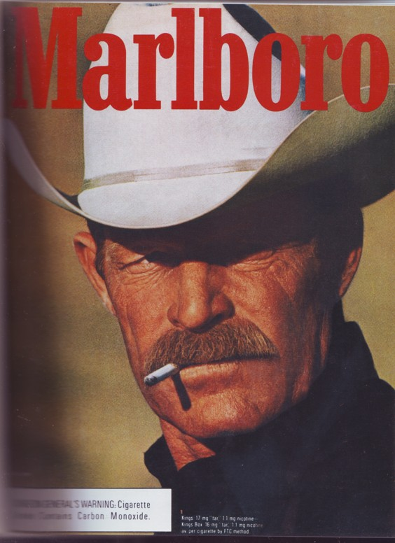 Darrell Winfield was the original Marlboro Man. He died in Riverton on Monday. (Photo and Trademark image by Phillip Morris USA)