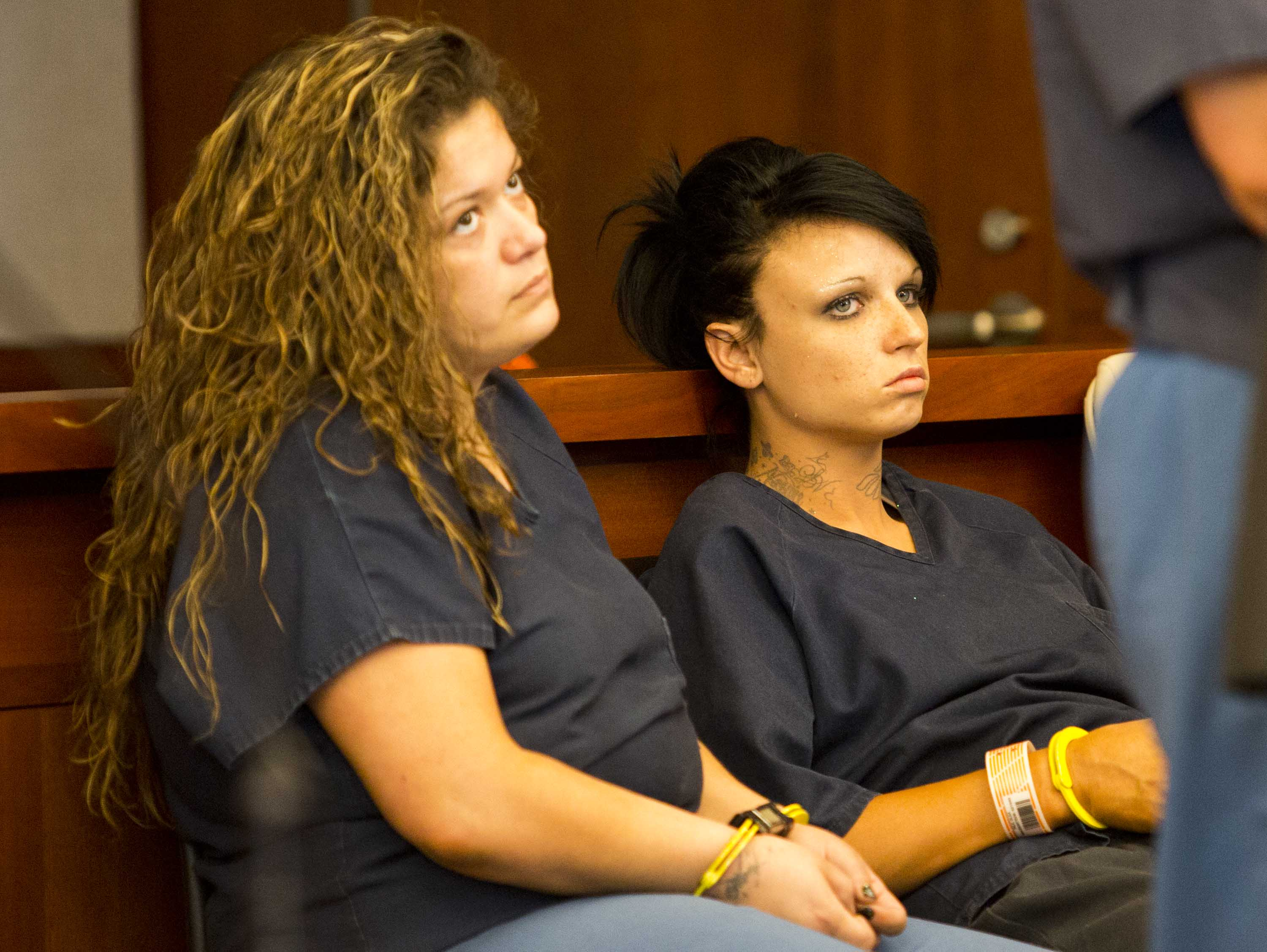 Barber Utah County : Brandi Barber, left, and Olga Falk wait for initial appearances. Falk ...