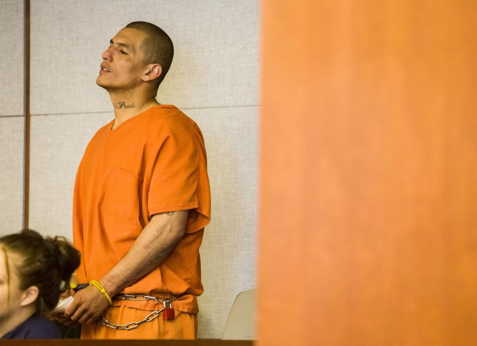 William Coronado III, 35, listens to the charges in Circuit Court Tuesday afternoon.